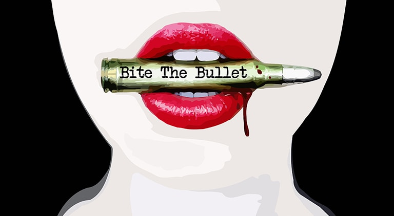 Bite The Bullet - Sticker - Arctic Wolf Design