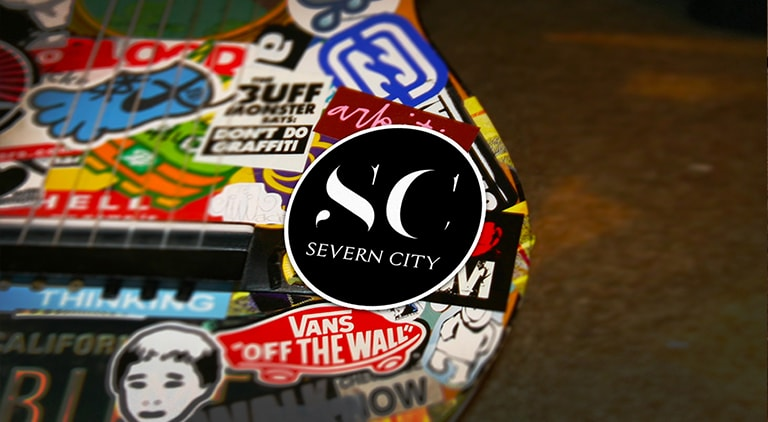 Severn City - Sticker - Arctic Wolf Design