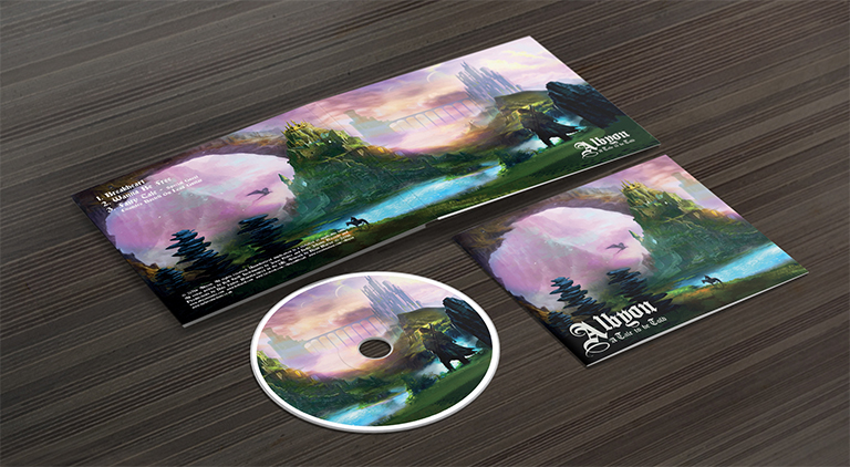Albyon - Album Art - Arctic Wolf Design