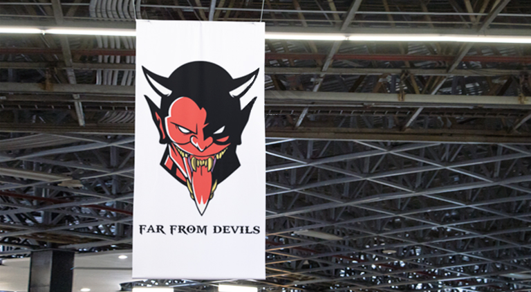 Far From Devils - Stage Banner - Arctic Wolf Design