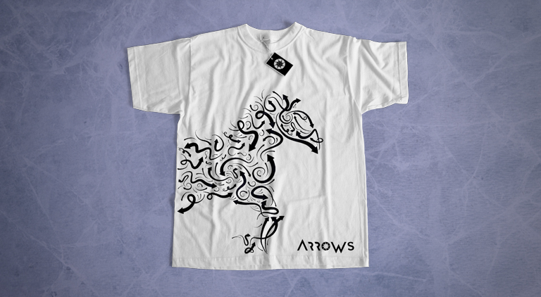 Arrows - T-Shirt - Arctic Wolf Design