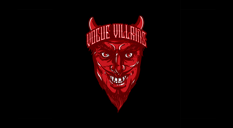 Vogue Villains - Logo - Arctic Wolf Design